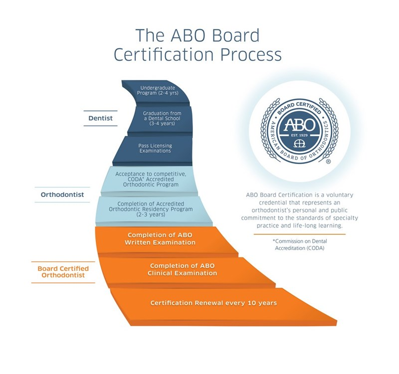 The ABO Board Certification Process Infographic